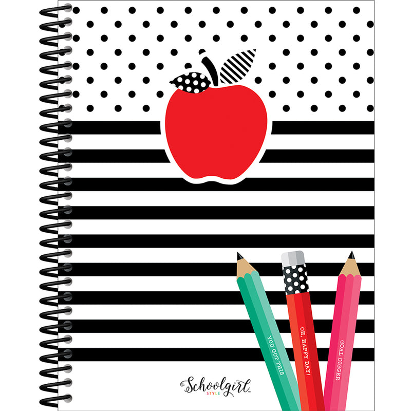 Brights Teacher Planner Black White & Stylish