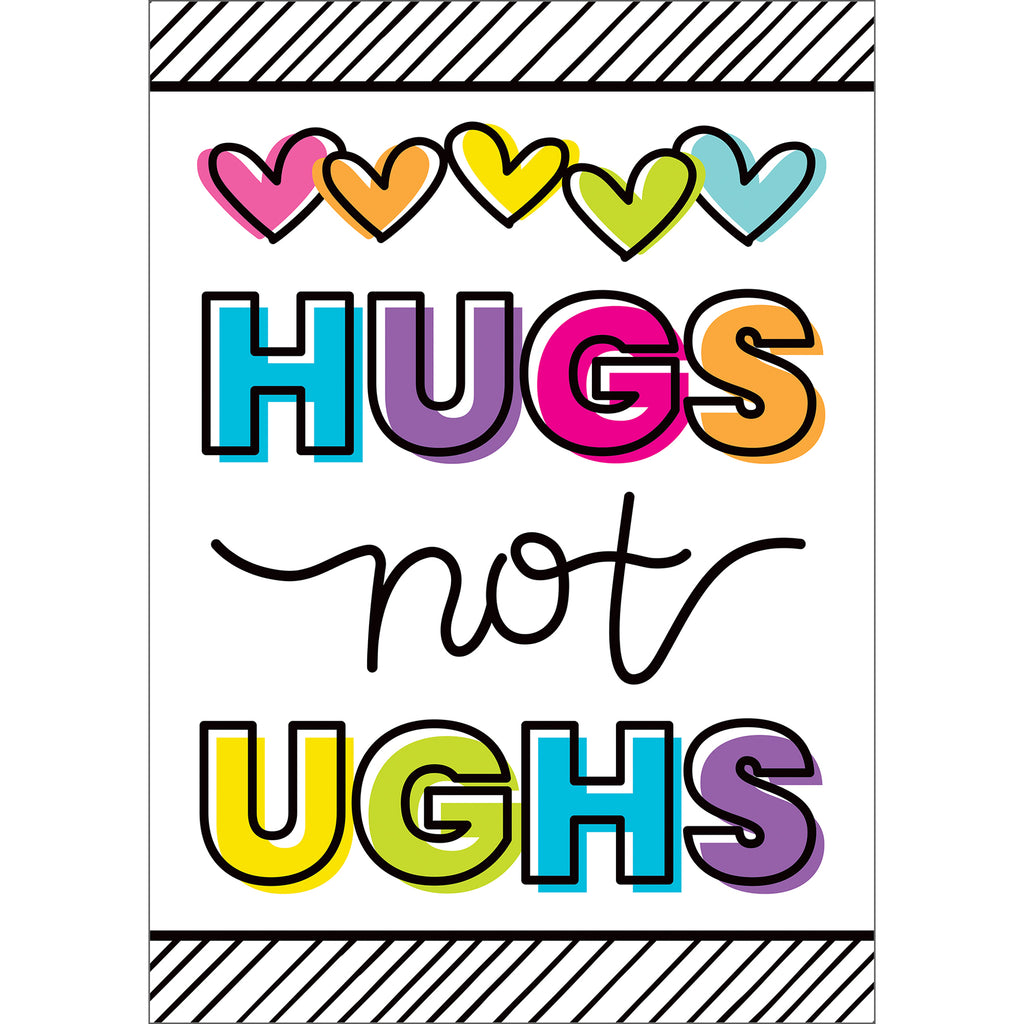 Kind Vibes Hugs Not Ughs Poster