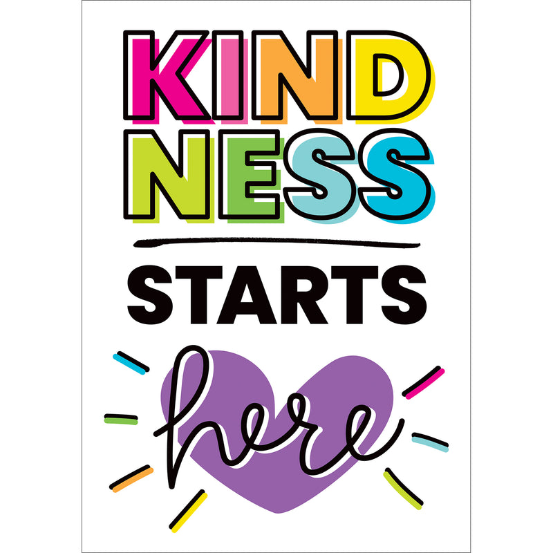 Kindness Starts Here Poster Kind Vibes