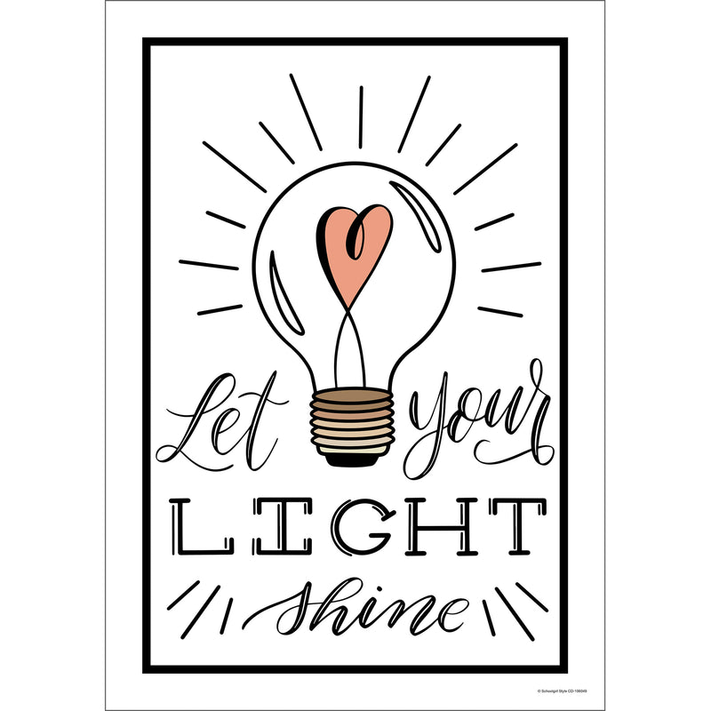 Let Your Light Shine Poster Simply Stylish