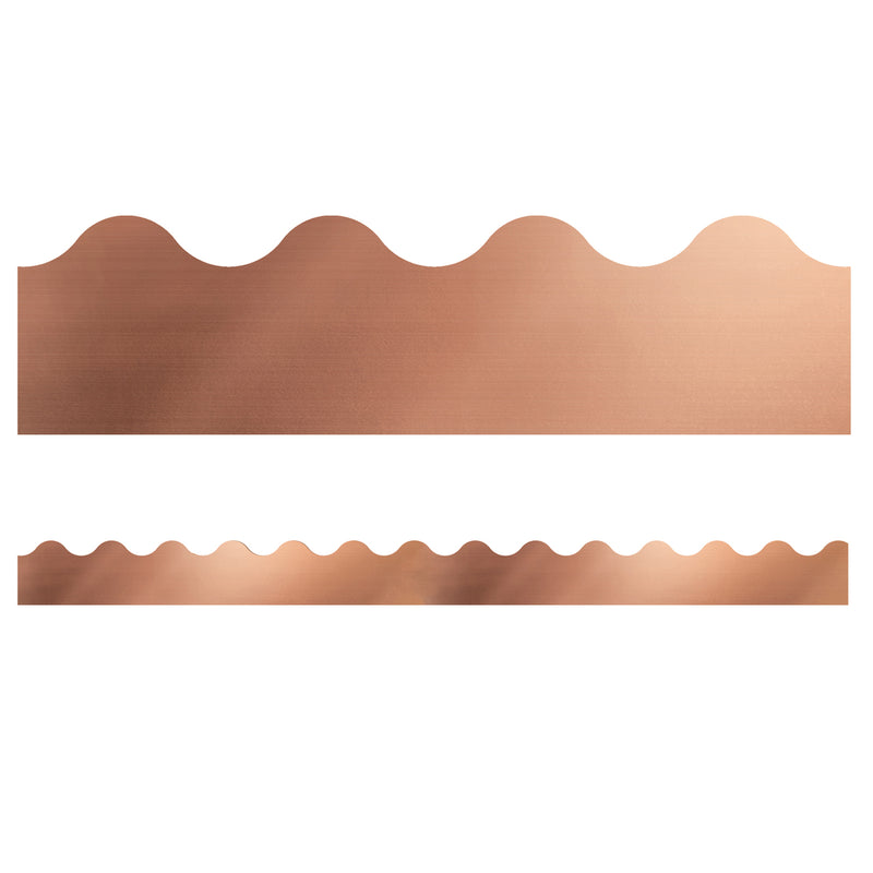 (6 Pk) Rose Gold Foil Scalloped Borders Sparkle And Shine