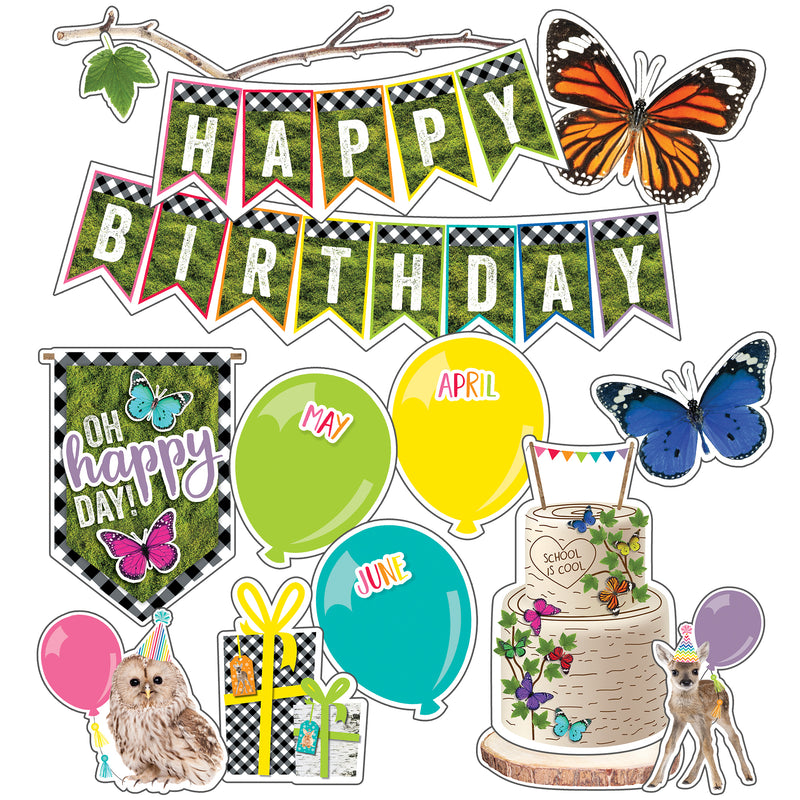 (3 St) Birthday Mini Bulletin Board Set Woodland Whimsy