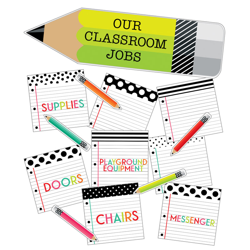 Brights Classroom Jobs Mini Bbs Black White & Stylish