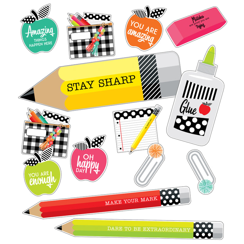 Brights Stylish Supplies Mini Bb St Black White & Stylish