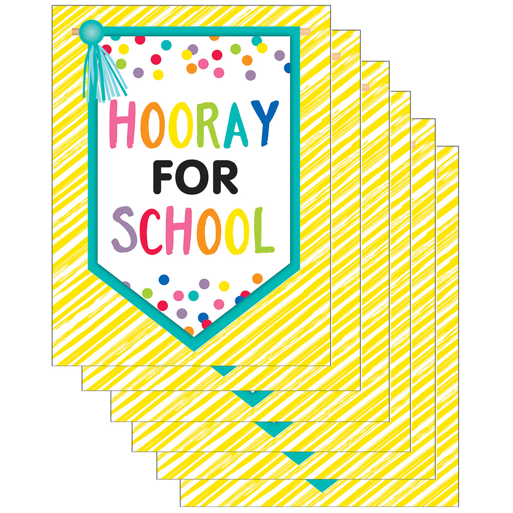 (6 Ea) Just Teach Hooray For School Chart