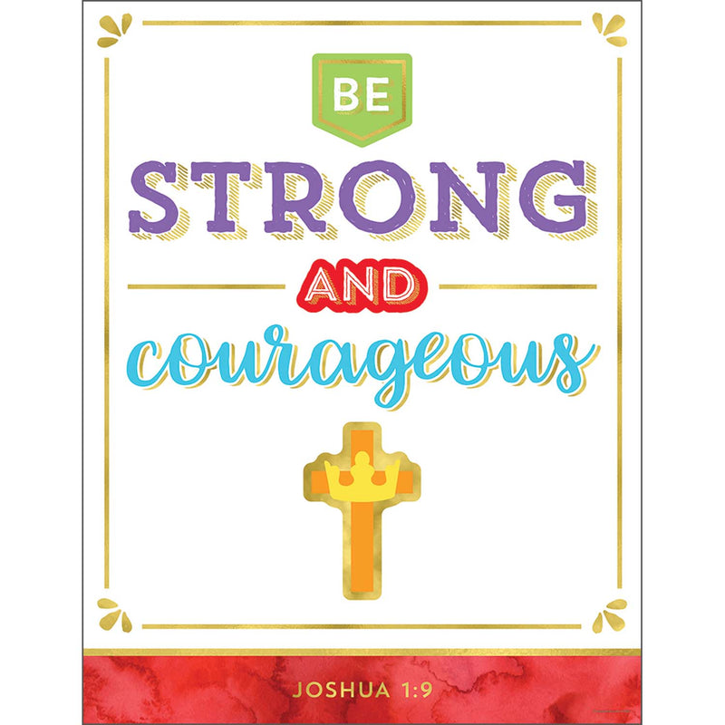 (6 Ea) Be Strong And Courageous Chart