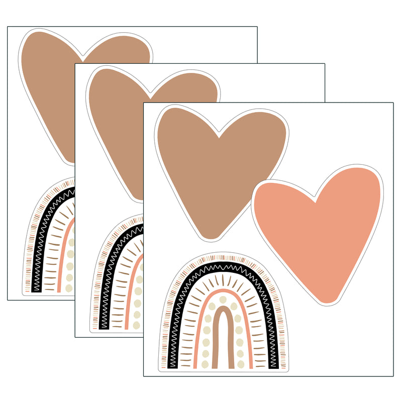 (3 Pk) Boho Rainbows & Hearts Cut Outs Simply Stylish