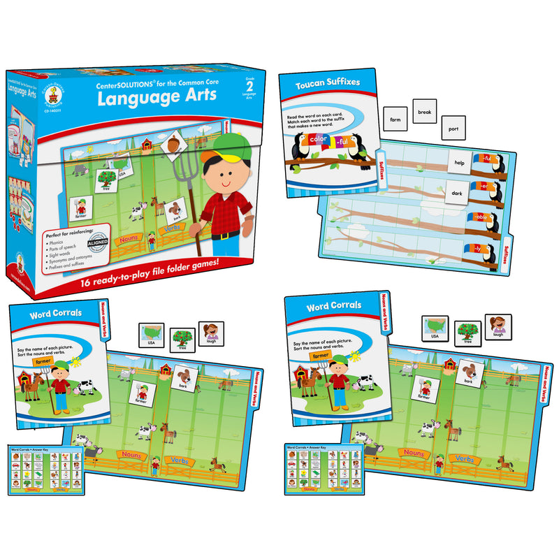 Language Arts File Folder Game Gr 2