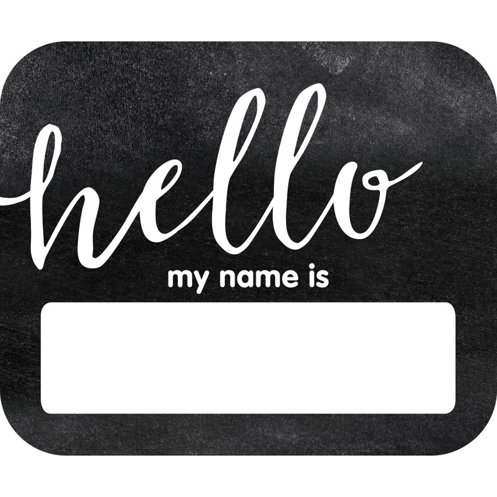 Industrial Chic Hello Name Tags School Girl Style