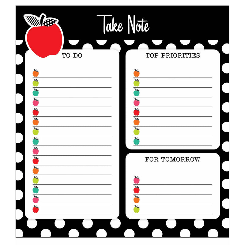 Blck Whte & Stylish Brights Notepad
