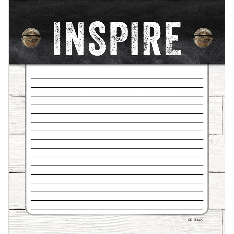 Industrial Chic Shiplap Notepad School Girl Style
