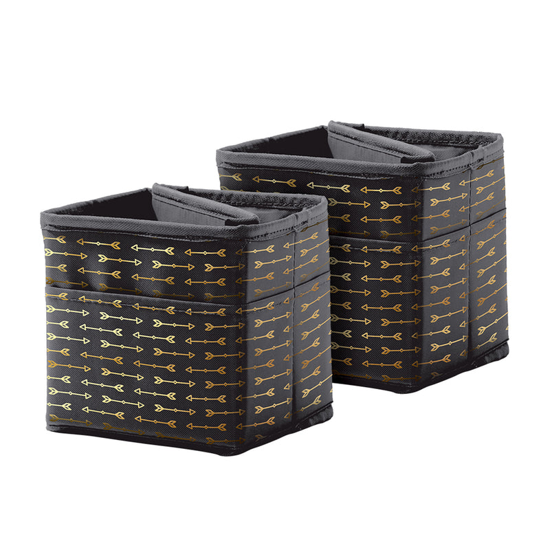 Tabletop Storage Black W- Gld Arrow