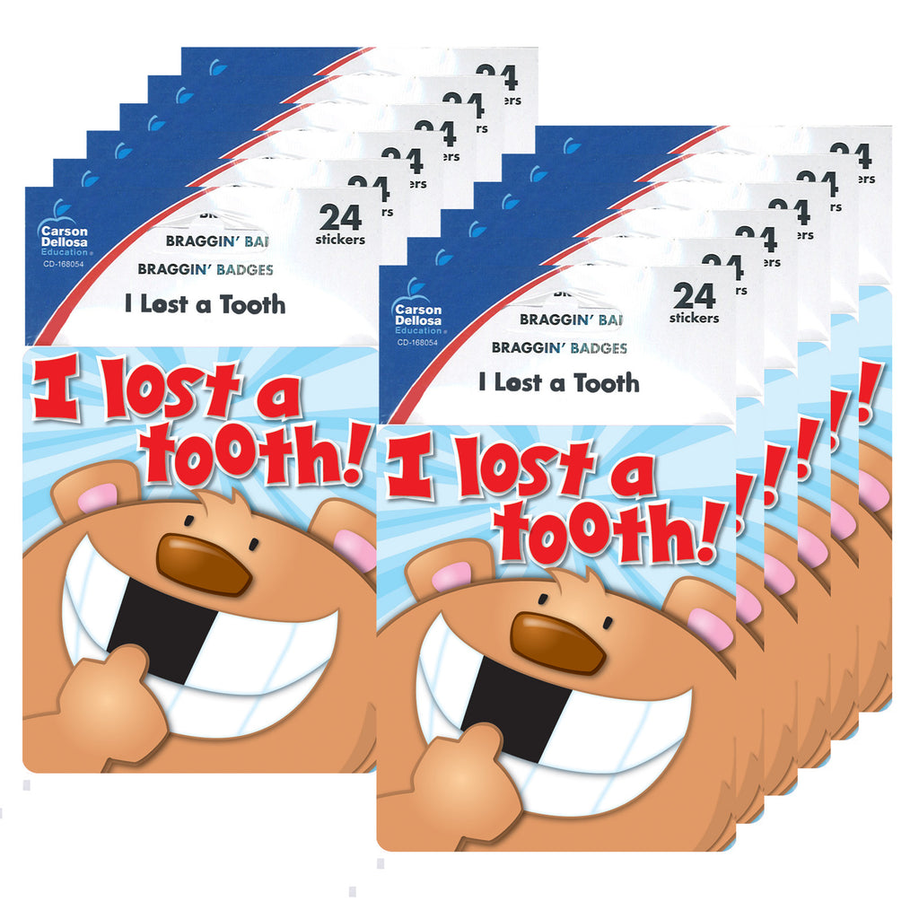 (12 Pk) I Lost A Tooth Stickers
