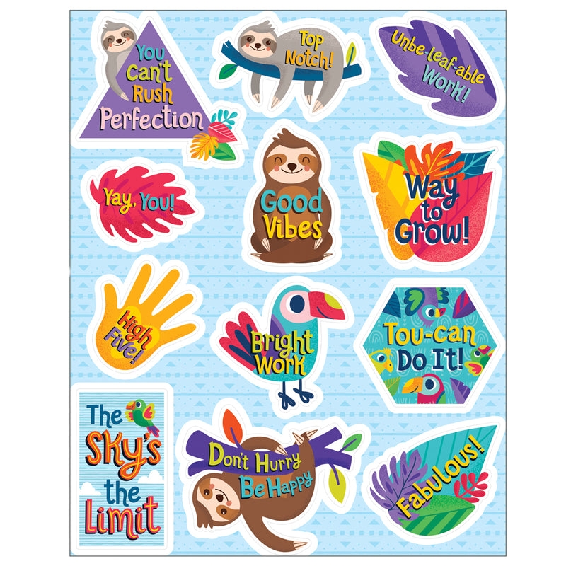 (12 Pk) Motivators Motivational Stickers One World
