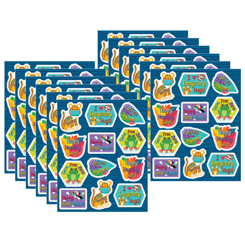(12 Pk) Germ Busters Shape Stickers One World