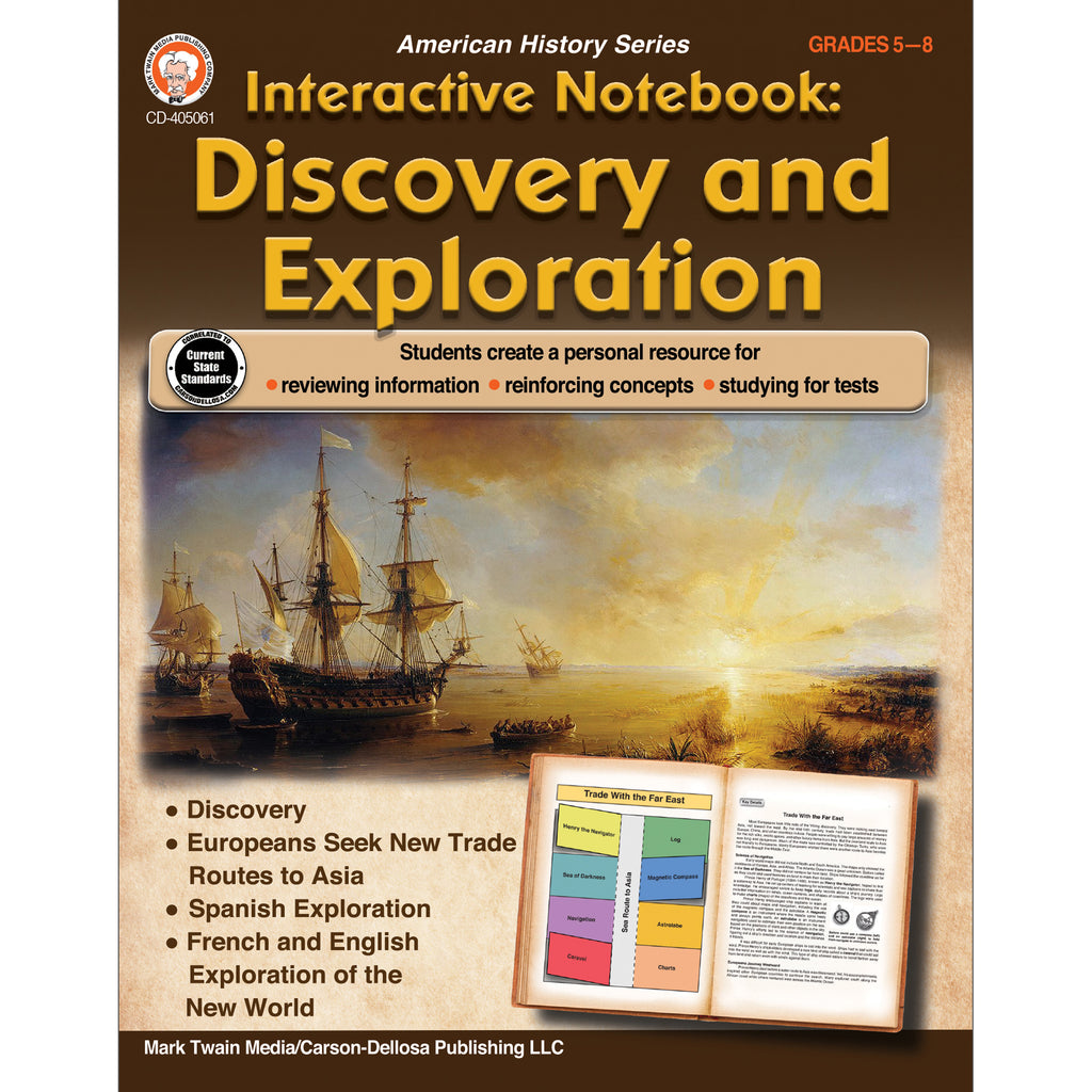 Discvry And Exploration Book Gr 5-8 Interactive Ntbk