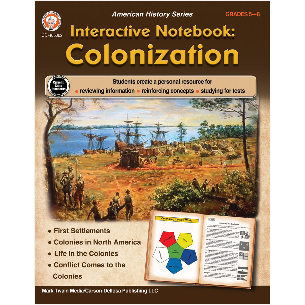 Colonization Resrce Book Grades 5-8 Interactive Notebook