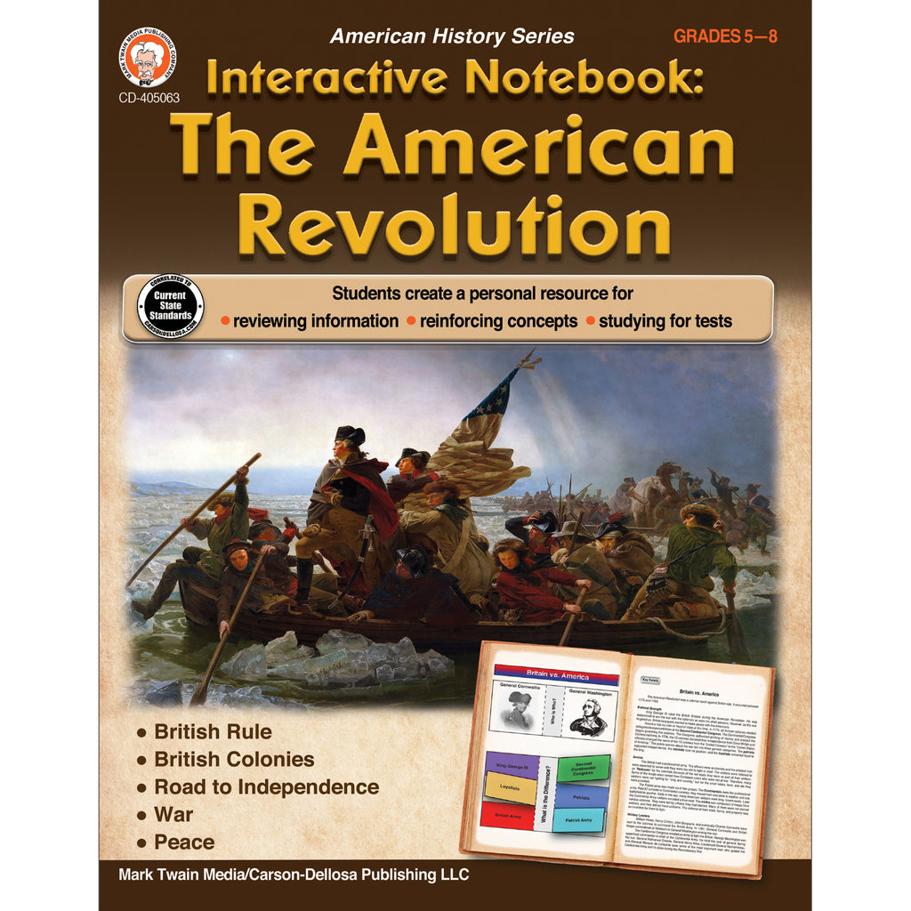 The American Revolution Book Gr 5-8 Interactive Ntbk