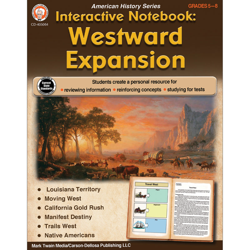 Westward Expansion Book Gr 5-8 Interactive Notebook