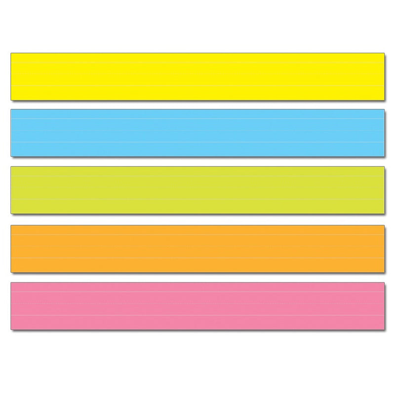 Sentence Strips Lined 75pk Multi Colored 3 X 24