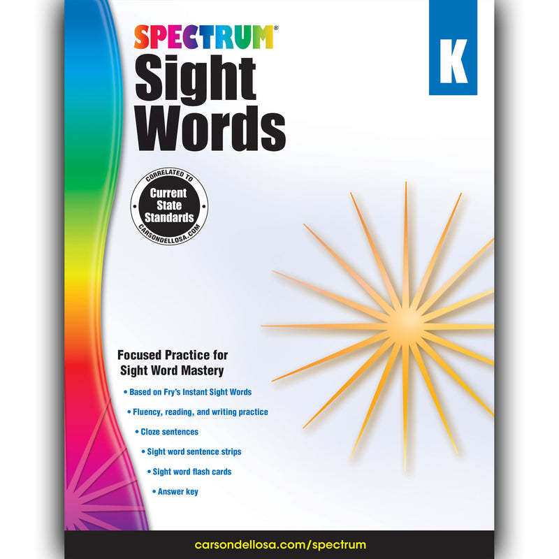 Spectrum Sight Words Gr K