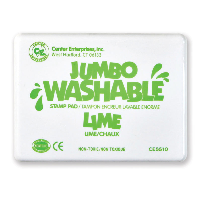(2 Ea) Jumbo Stamp Pad Lime Green Washable