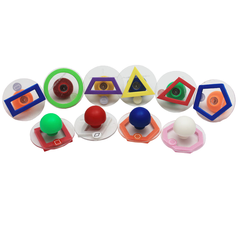 Ready2learn Giant 10-pk Outline Geometric Shapes