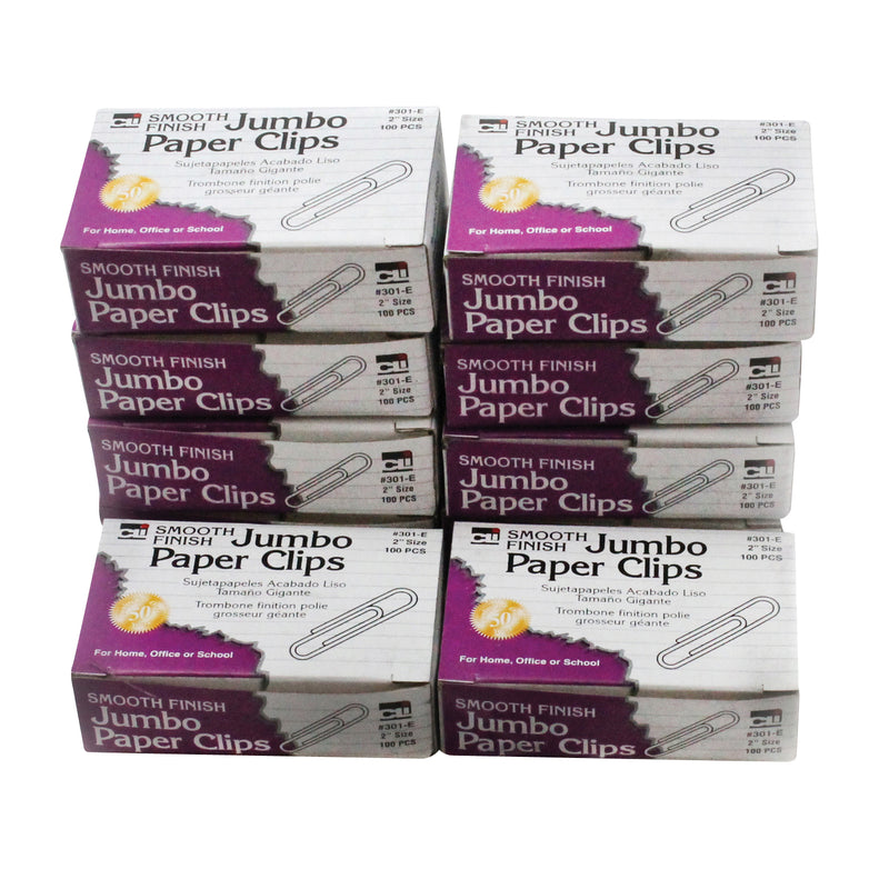 (2 Pk) Jumbo Paper Clips 10 Boxes Of 100 Clips Per Box