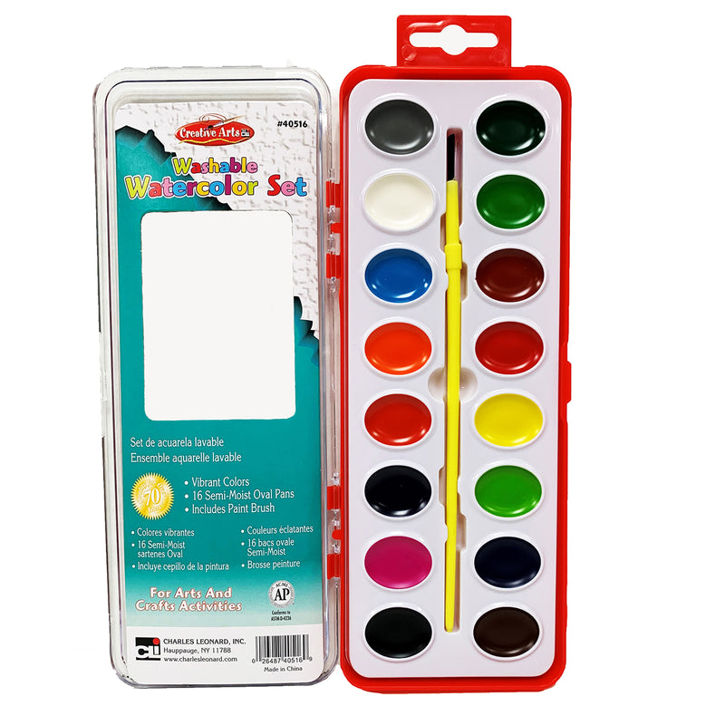 Water Color Paint Set 16 Asst Clrs