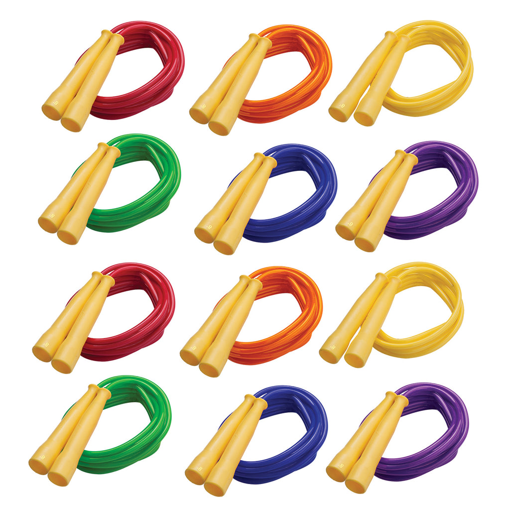 (12 Ea) Speed Rope 8ft Yellow Handles Assorted Licorice Rope