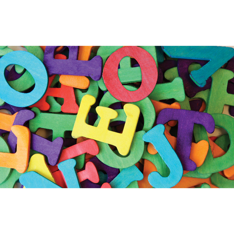 Wood Capital Letters Multi-color 104 Pcs