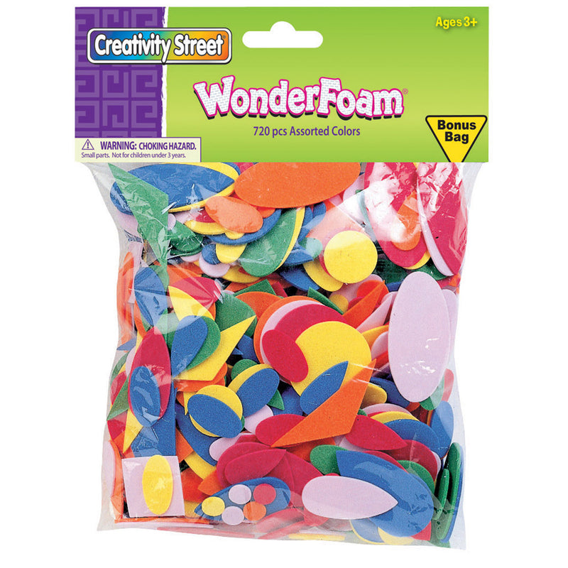 (6 Ea) Wonderfoam Asst Colors 720 Per Pk
