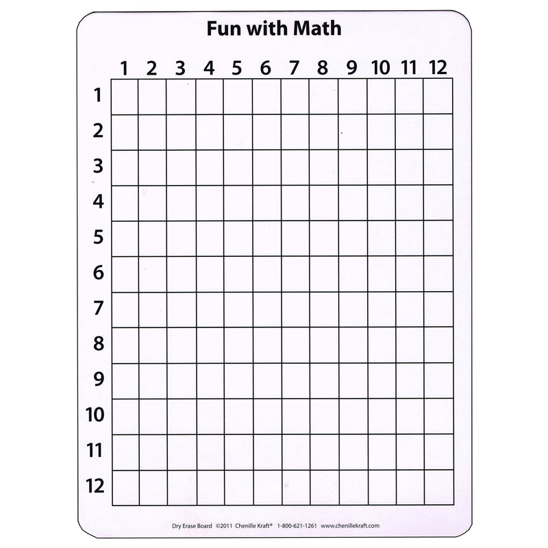 Math Whiteboard 9 X 12 10 Pk