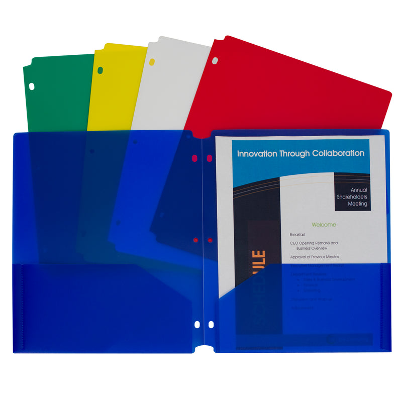 2 Pocket Poly Portfolios 10 Pk
