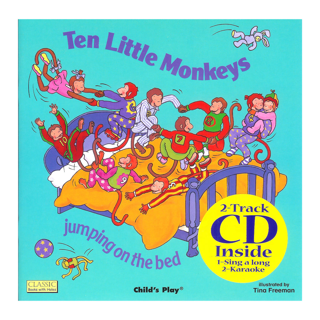 Ten Little Monkeys 8x8 Book With Cd