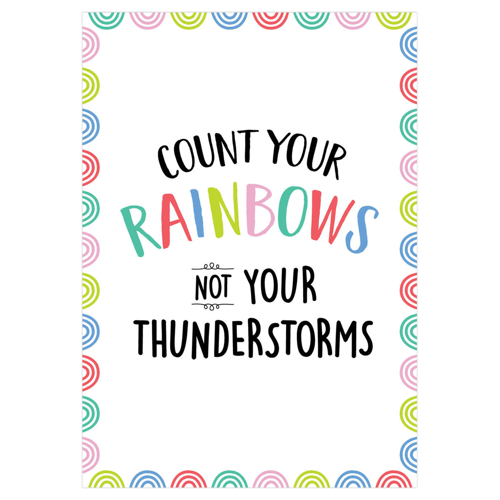 Count Your Rainbows Poster