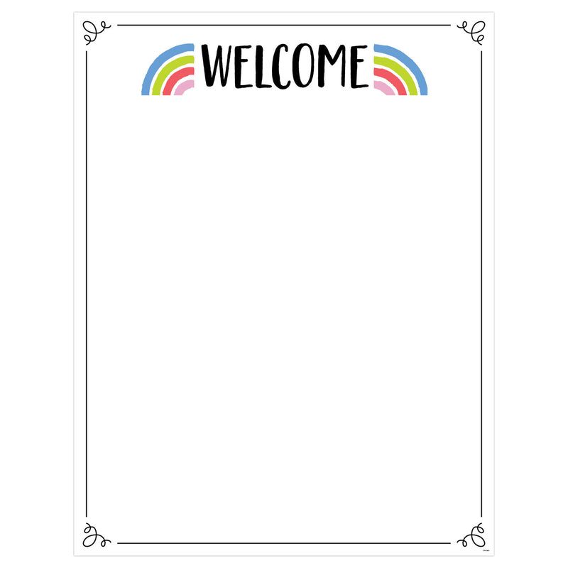 Rainbow Doodles Welcome Chart