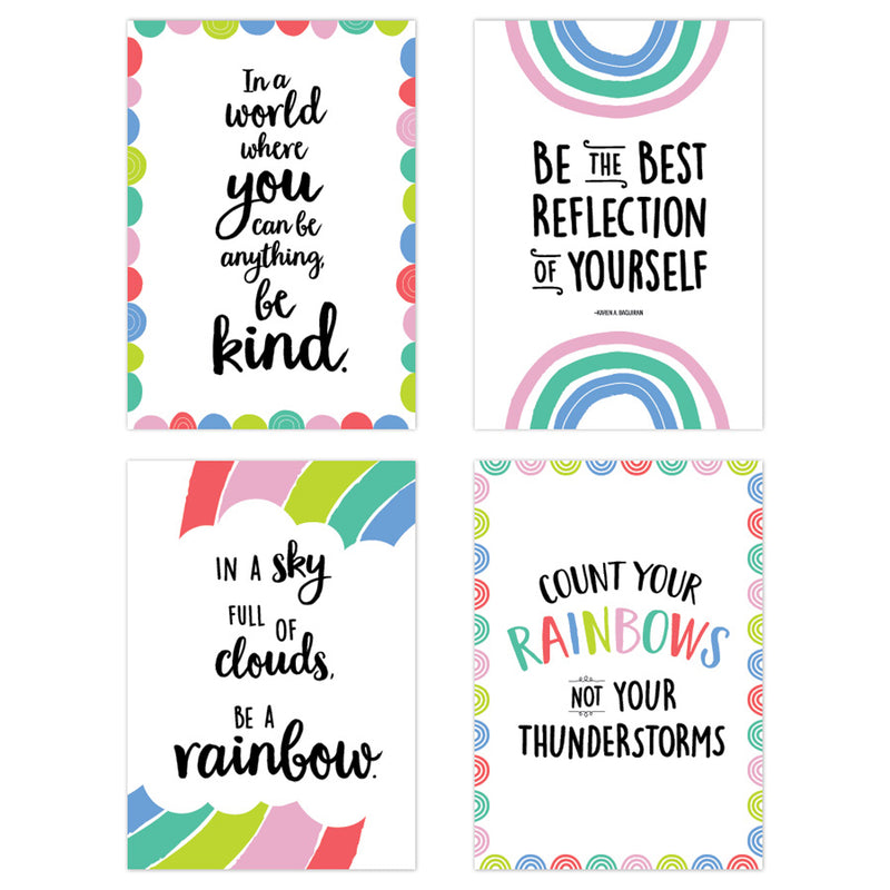Rainbow Doodles 4 Poster Pack