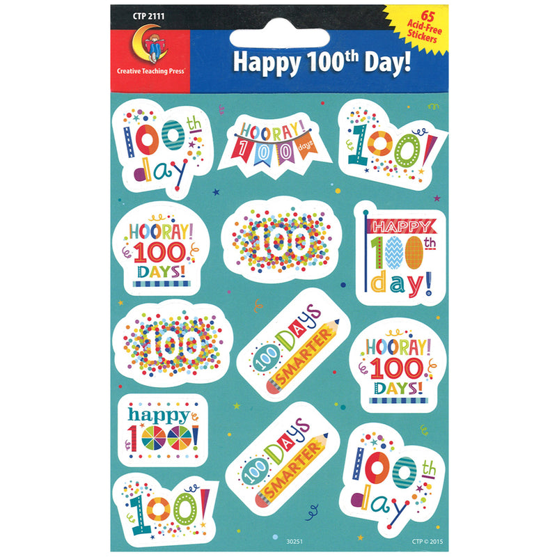 Happy 100th Day Reward Stickers