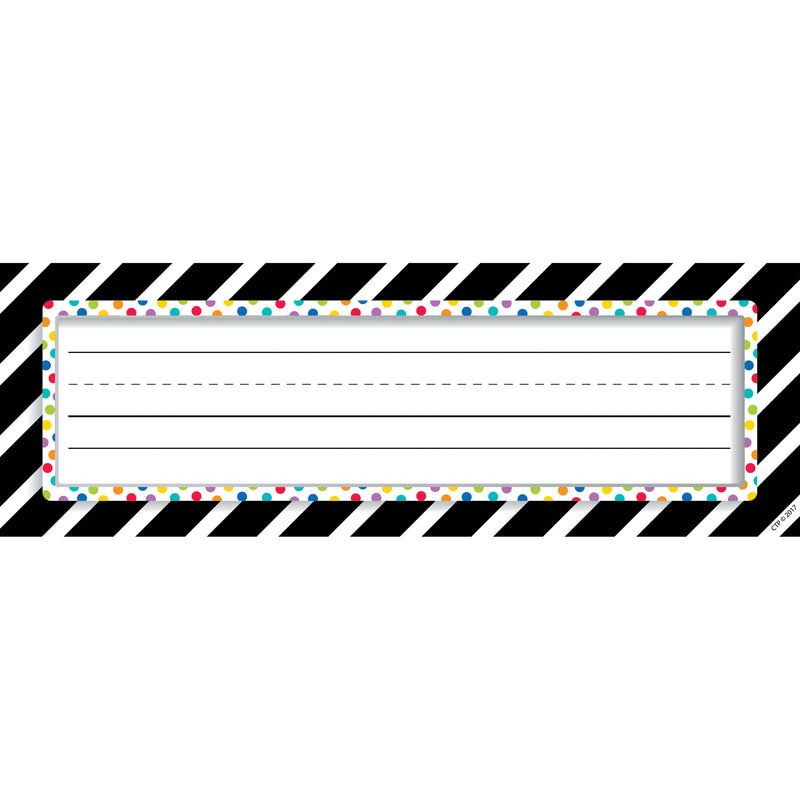 (6 Pk) Bold Stripes-dots Nameplates