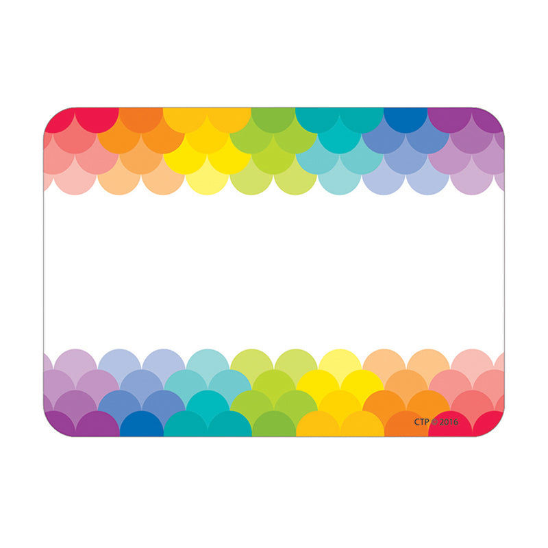 (6 Ea) Painted Palette Rainbow Labels Scallops