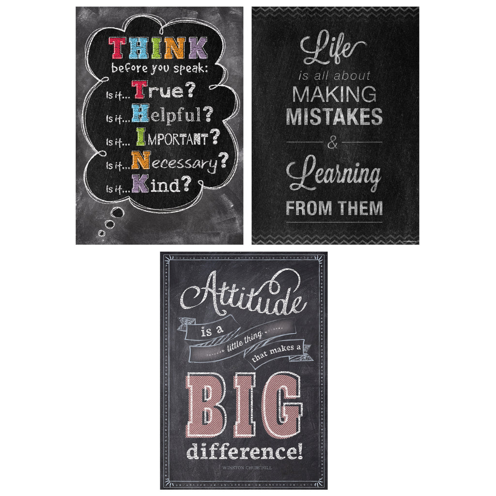 Think Positive Poster Pack Chalk It Up