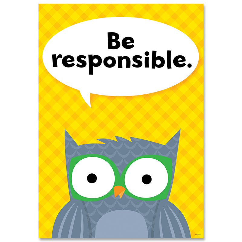 Be Responsible Woodland Friends Inspire U Poster