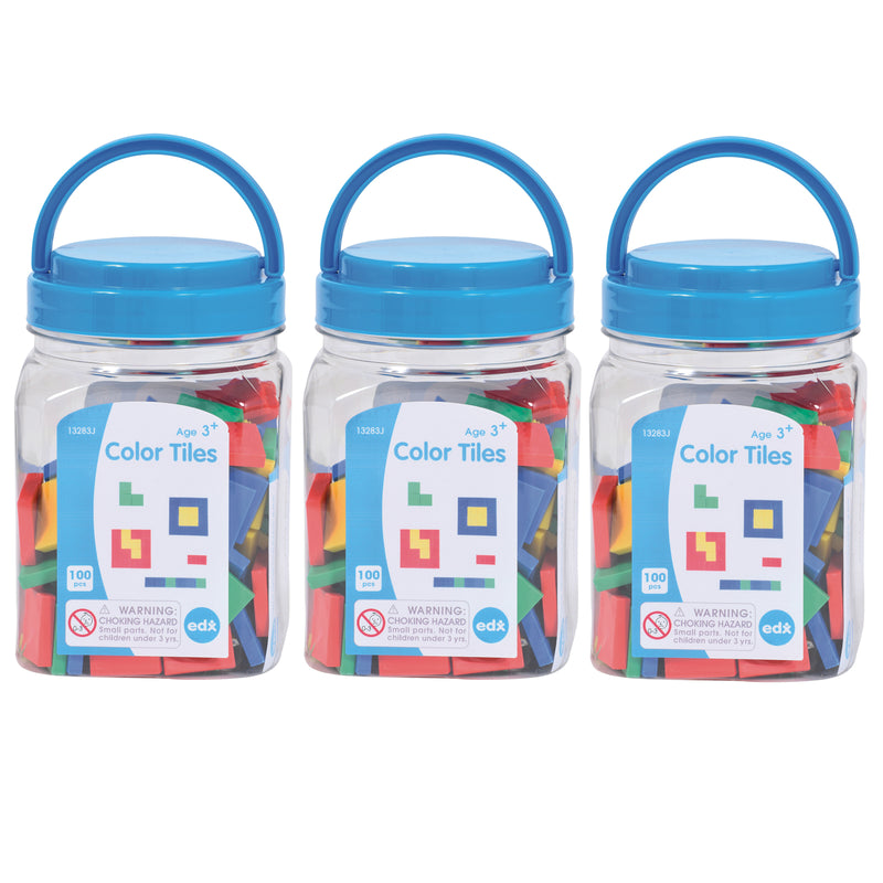(3 Ea) Color Tiles Mini Jar
