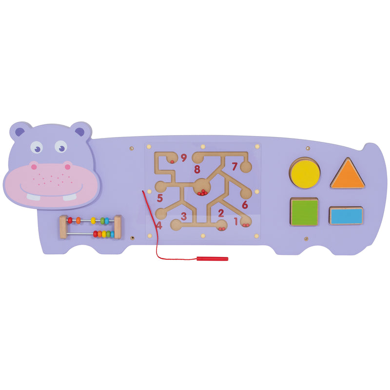 Three Activity Wall Panel Hippo