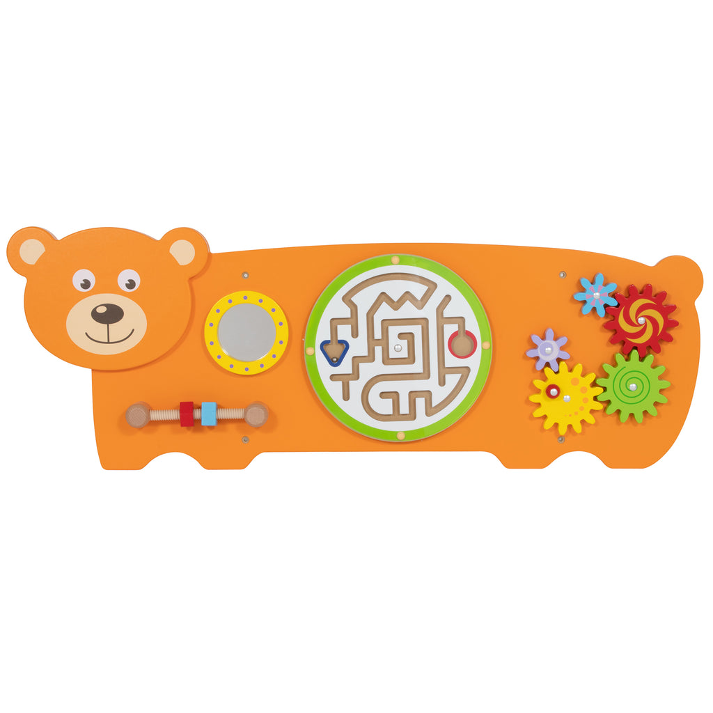 Three Activity Wall Panel Bear