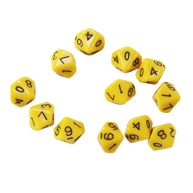 (3 Pk) 10 Sided Polyhedra Dice Set Of 12