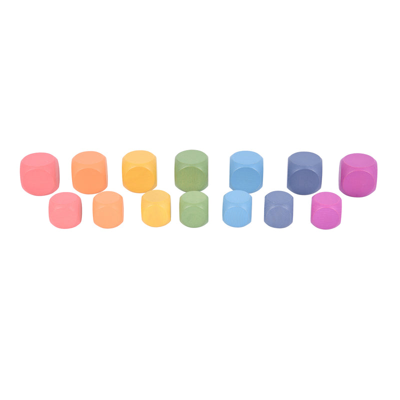 Rainbow Wooden Cubes Set Of 14