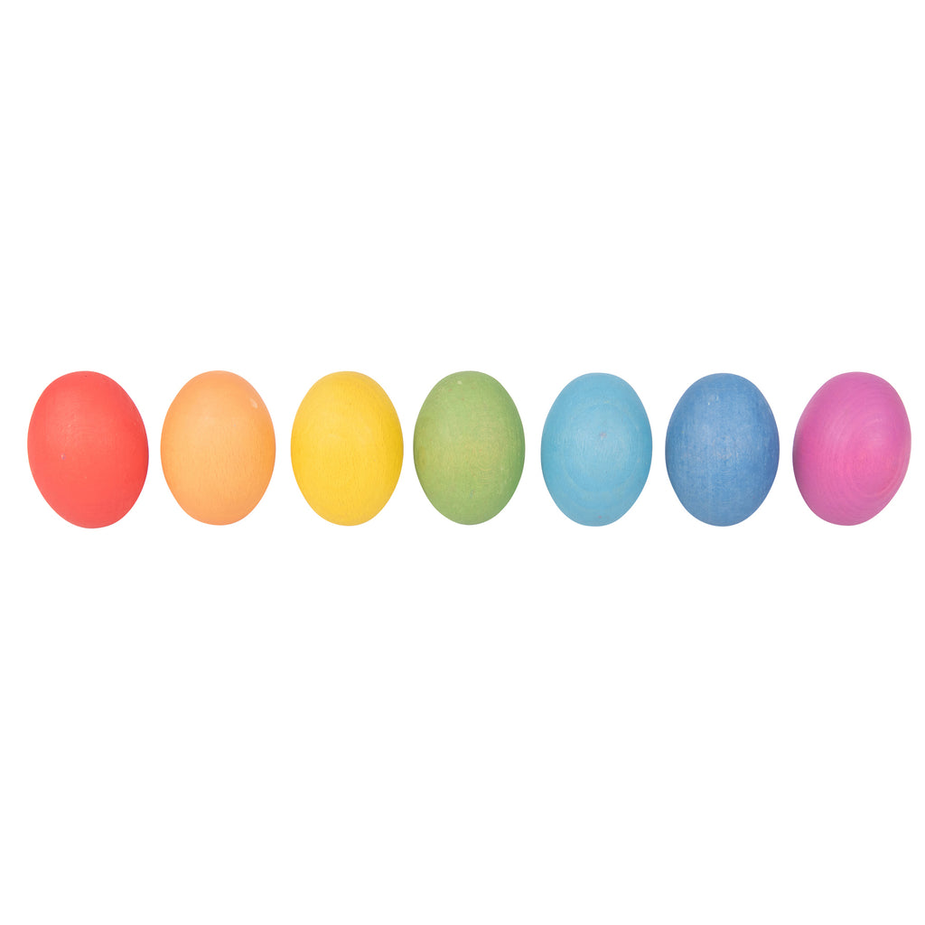 Rainbow Wooden Eggs Set Of 7