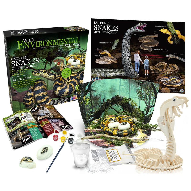 Extreme Science Kit Snakes Of The World Wild Science
